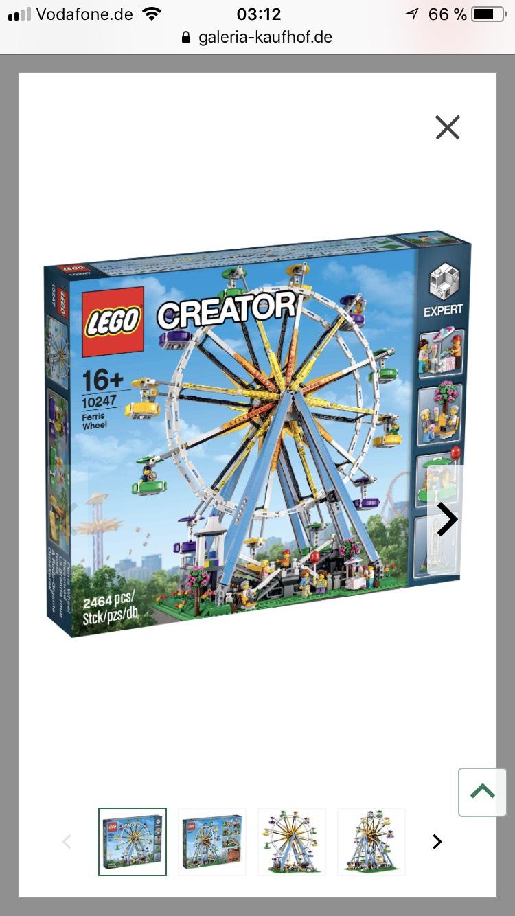Galeria Kaufhof- Lego Riesenrad für 139,19
