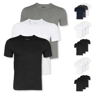 3er Pack HUGO BOSS T-Shirts Business Shirts kurzarm Crew-Neck V-Neck