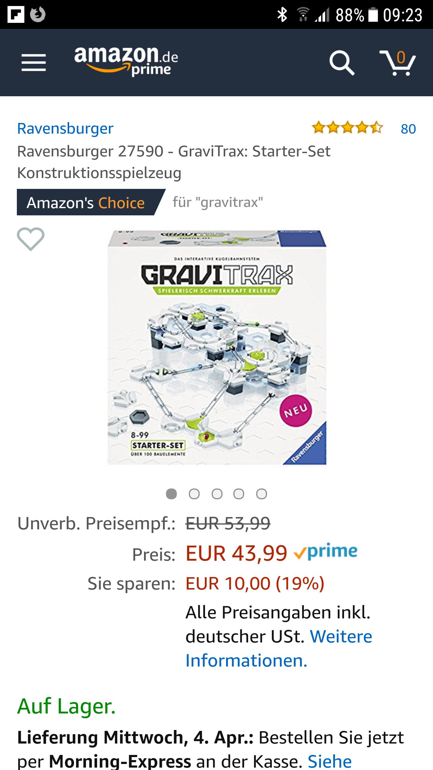 Gravitrax Starter Set 43,99€
