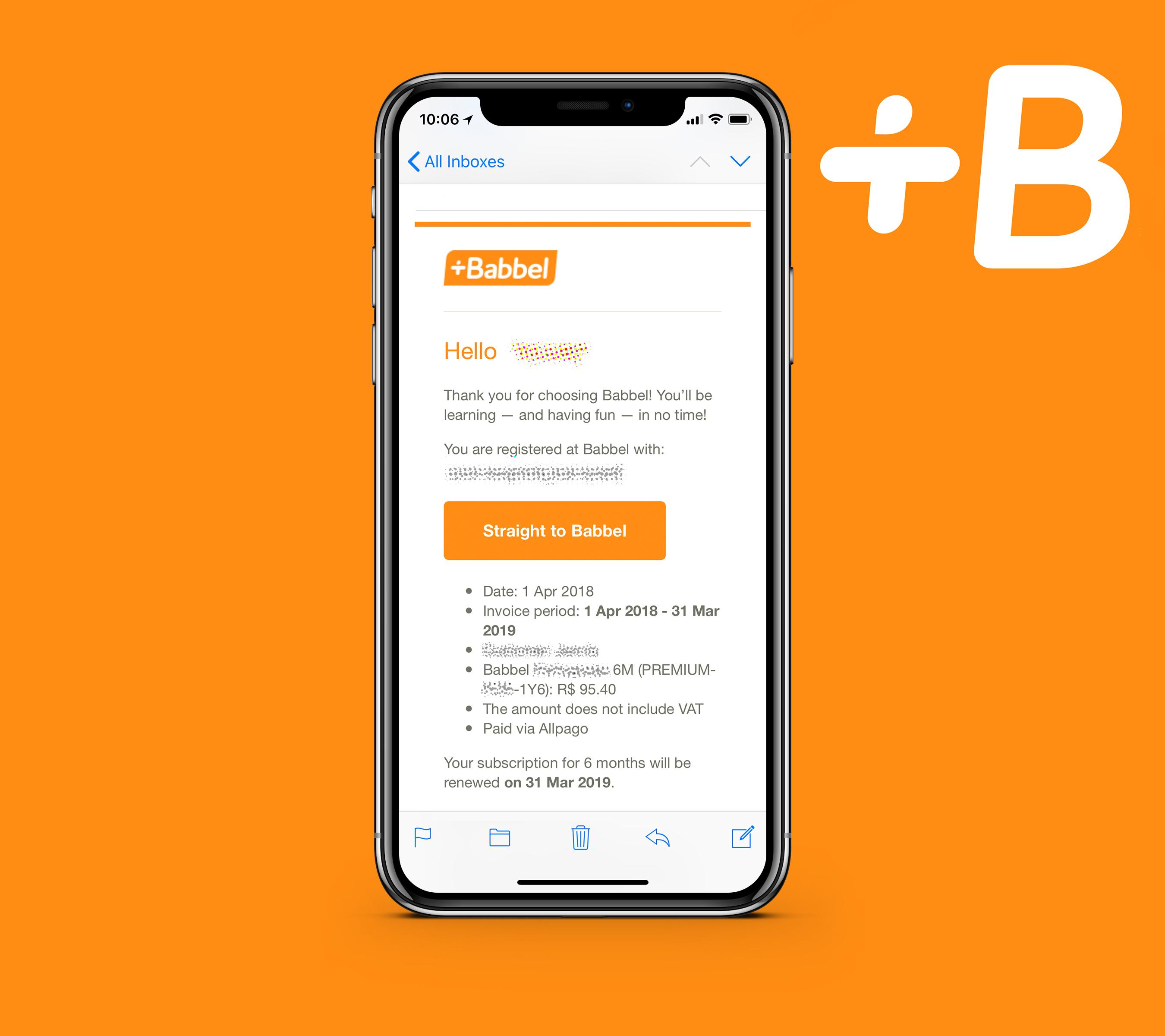 Babbel Premium 1 Jahr für 23€