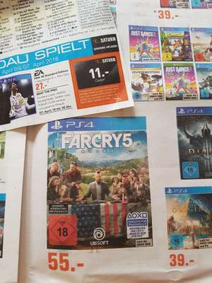 Far Cry 5 PS 4 (lokal Saturn Spandau mit Coupon) für 44€