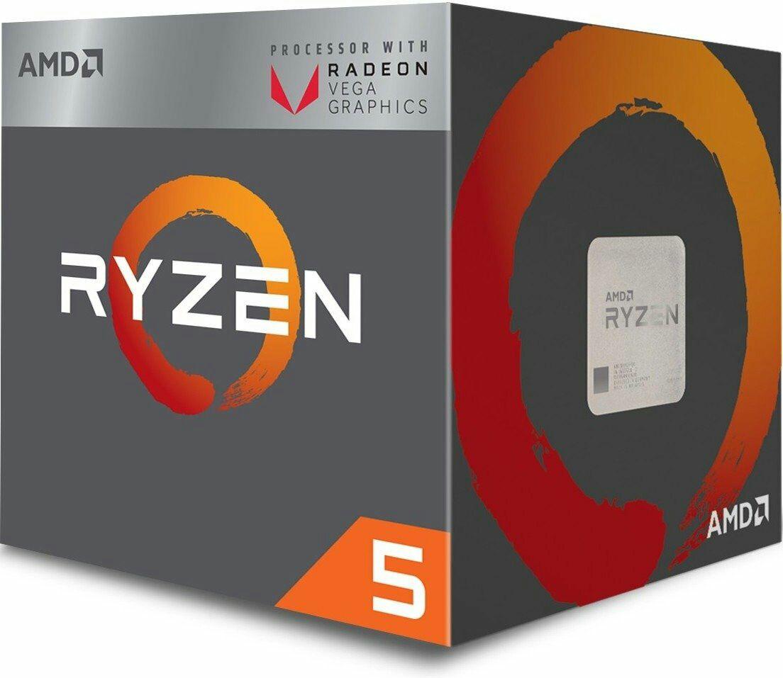 AMD Ryzen 5 2400G Prozessor (Box) - QuadCore mit SMT (4C/8T) und Vega Grafikeinheit (11CUs) Wraith Stealth Cooler (Jacob)