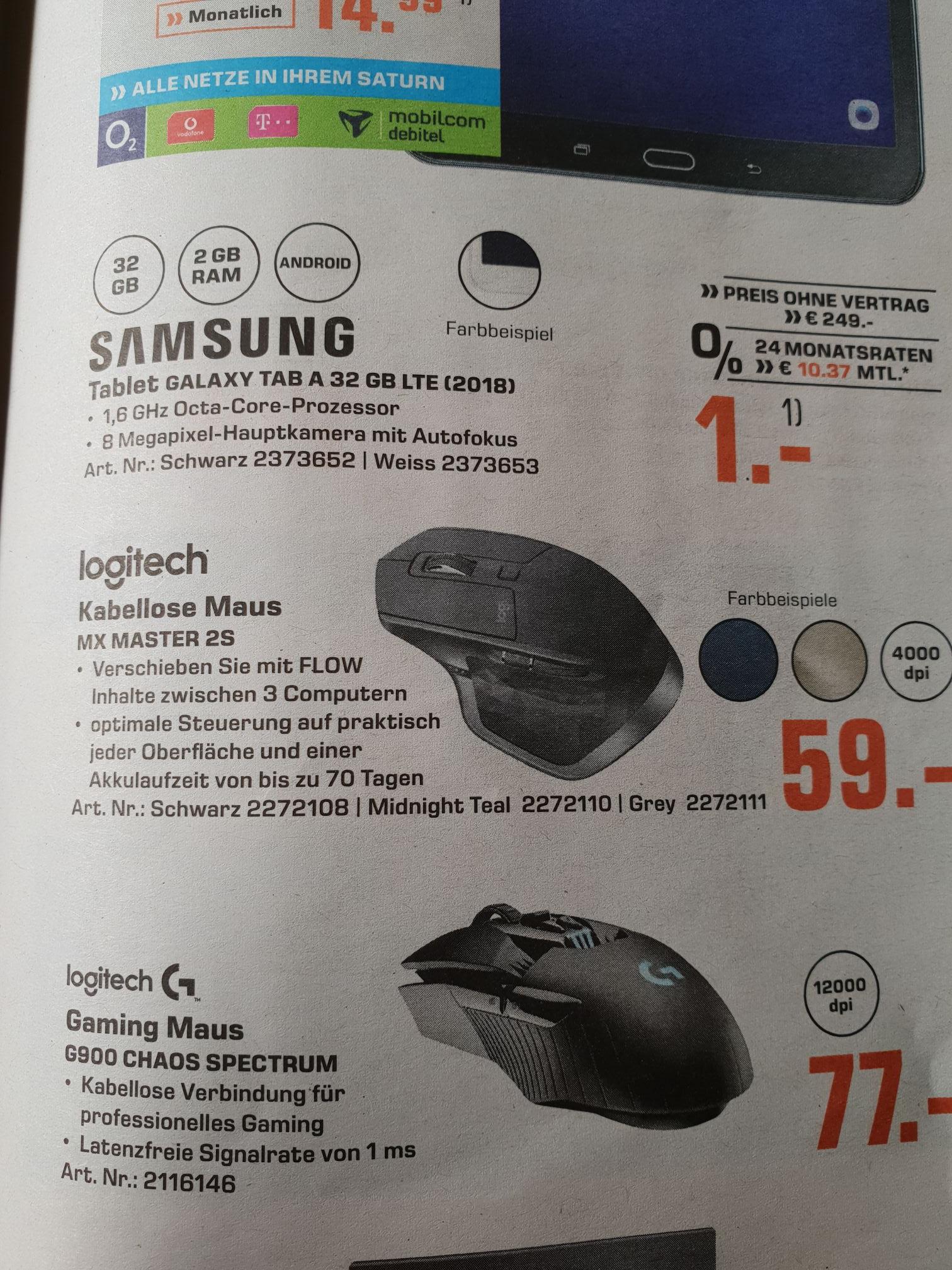 Lokal Saturn Krefeld - Logitech MX Master 2S für 59 €