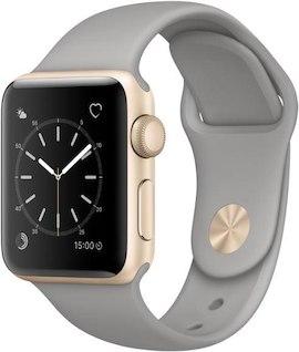 [Lokal Schweiz] Apple Watch Series 2 38mm, Alu, Silikon in gold/grau + ggf. silber/weiß