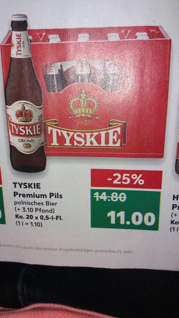Tyskie Piwo Bier bei Kaufland