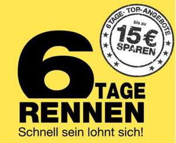 Galeria Kaufhof 6 Tage Rennen - täglich neue Aktionsangebote und bis zu 15€Gutscheincode auf das restliche Sortiment
