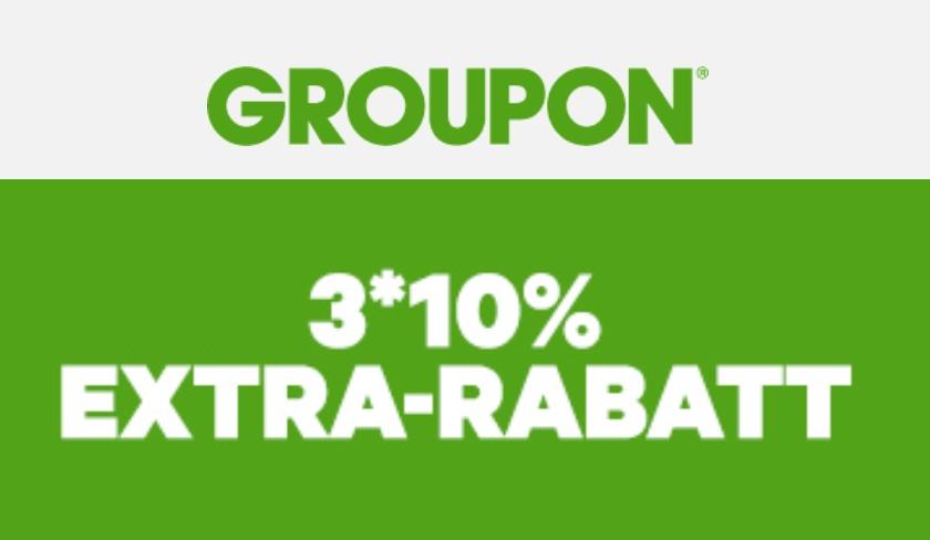 Heute bei Groupon: 3x 10% Rabatt auf Produktdeals!