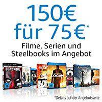 Filme,Serien oder Steelbooks für 150€ auswählen und nur 75€ bezahlen [Amazon.de]