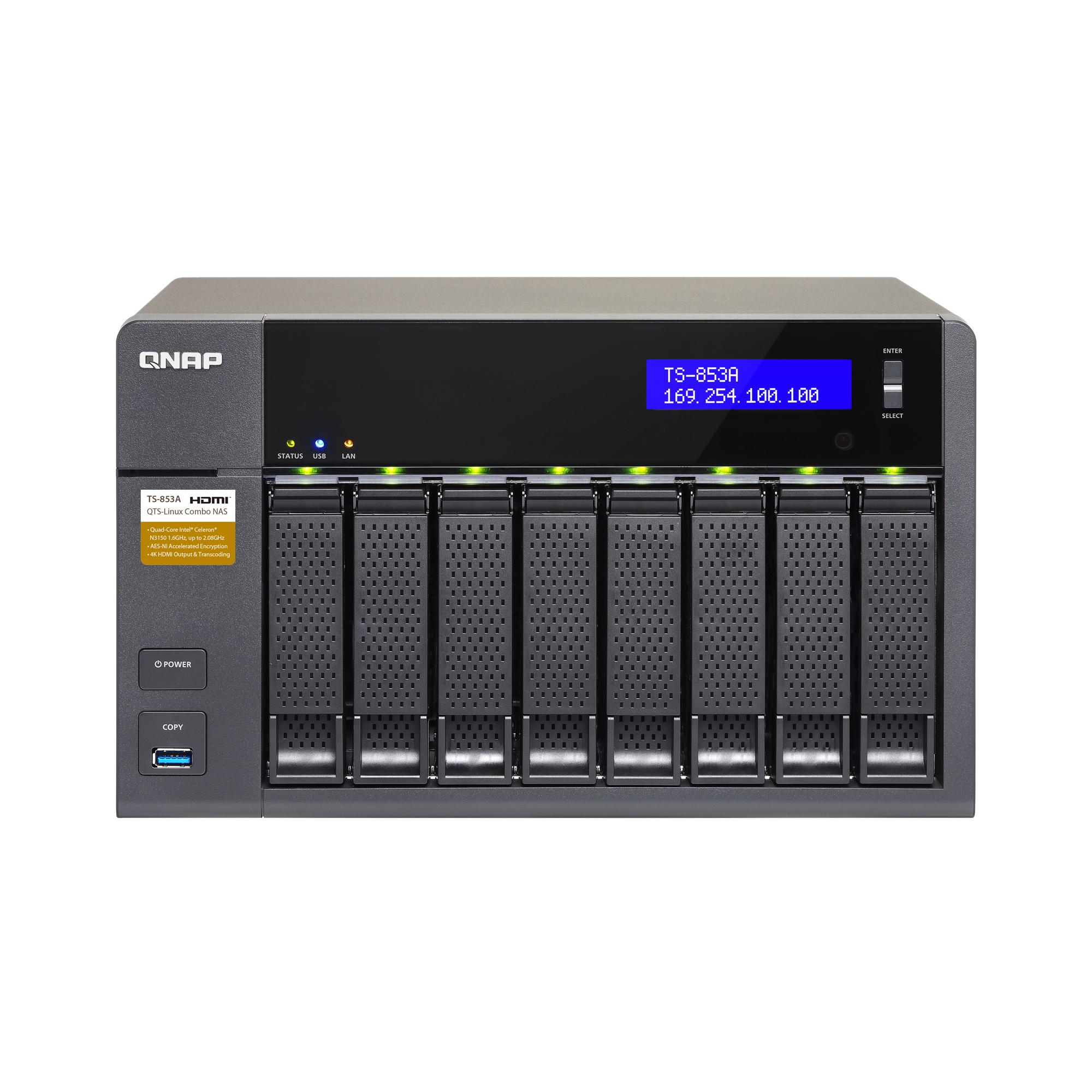 QNAP Systems TS-853A-4G NAS 8-Bay Leergehäuse 4x GbE LAN 4GB RAM bei NBB Notebooksbilliger Versandkostenfrei