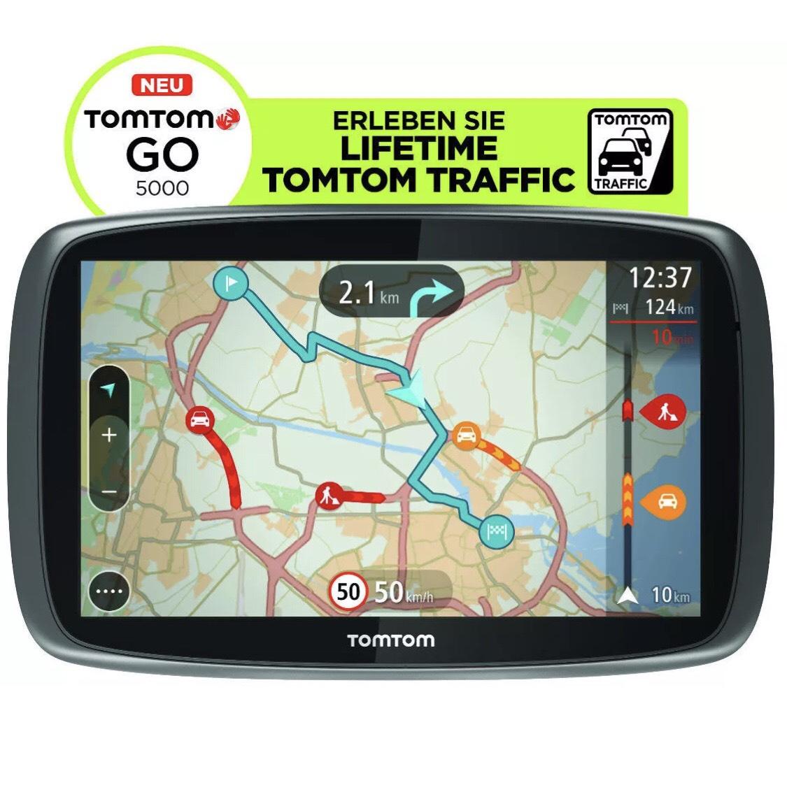 TomTom GO 5000 M Europa Lifetime HD-Traffic + Free 3D Maps EU XXL Tap&Go GPS WOW refurbished