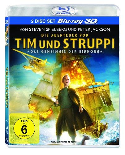 Die Abenteuer von Tim und Struppi - Das Geheimnis der Einhorn (3D Blu-ray + Blu-ray) für 8,97€ (Amazon Prime Blitzangebot)
