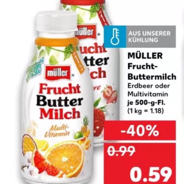 [Kaufland] Müller Frucht Buttermilch 500g Erdbeere & Multi Vitamin