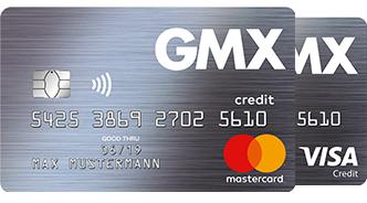 GMX Kreditkarte mit 95 bzw. 75 Euro Bonus - im ersten Jahr kostenfrei.