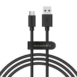Banggood BlitzWolf® BW-CB7 2.4A 3.33ft/1m Micro USB Charging Data Cable With Magic Tape Strap