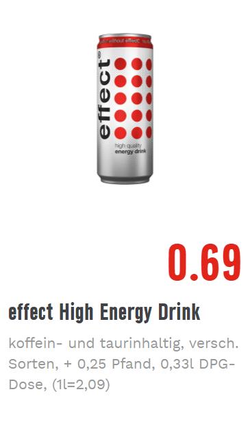 [EDEKA Region Minden/Hannover] effect Energy Drink 0,33l in verschiedenen Sorten für 0,69€ zzgl. Pfand, gültig vom 03.04. - 07.04.2018