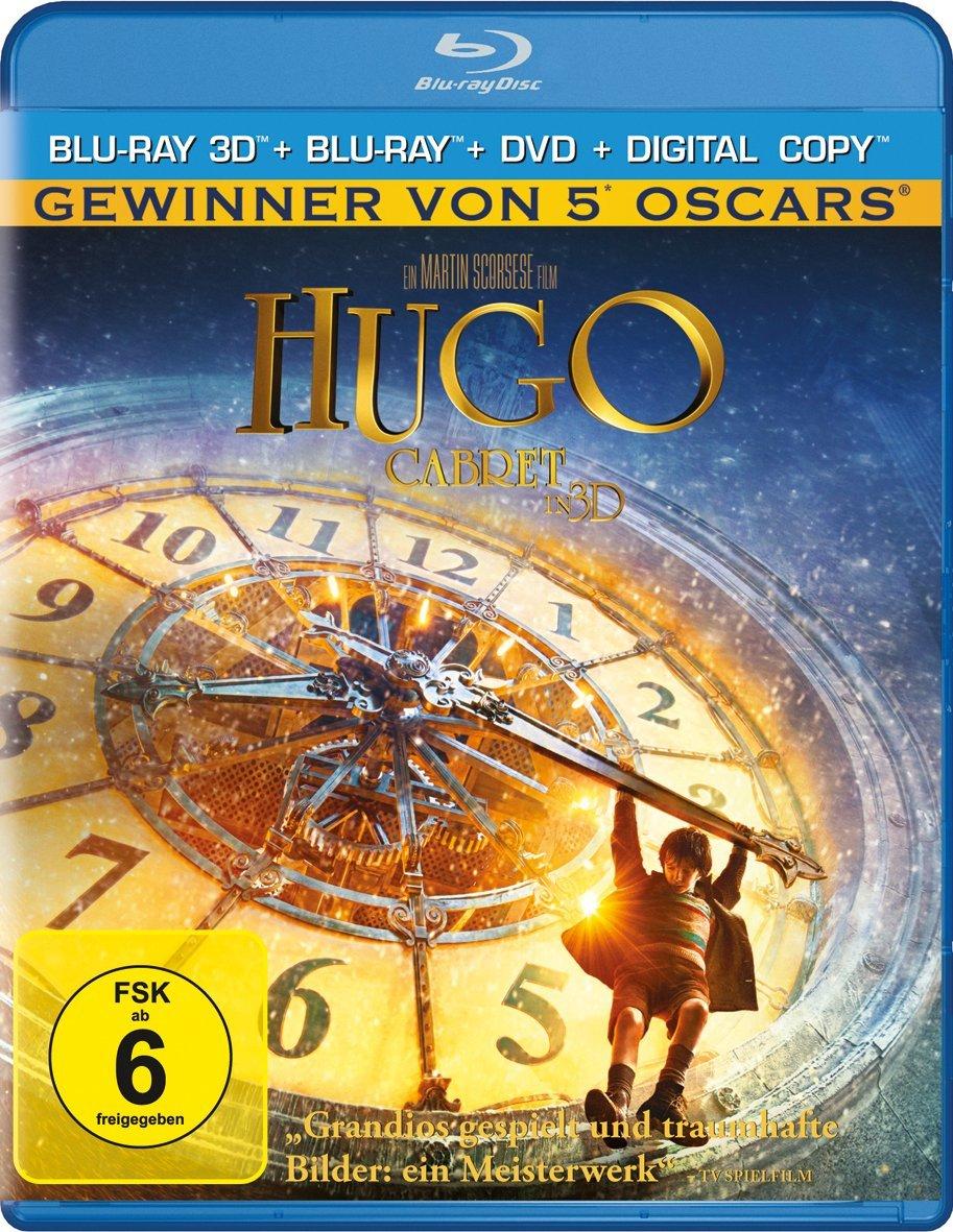 Hugo Cabret 3D (3D Blu-ray + Blu-ray + DVD + Digital Copy) für 8,98€ (Media-Dealer)