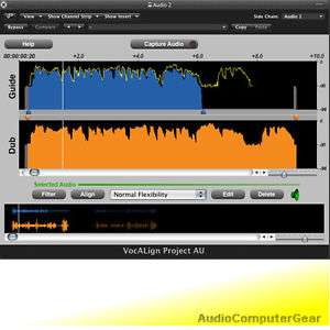 Synchro Arts VOCALIGN PROJECT 3 Auto Align Audio Tracks Software Plug-in Neu