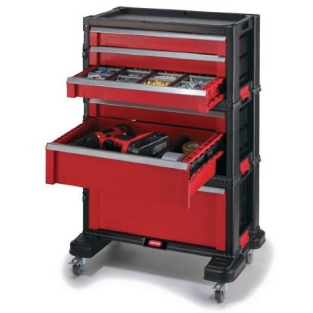 (ScrewFix) Werkstattwagen mit 3 Kisten-Elementen / 3 - 2 - 1 Schubladen
