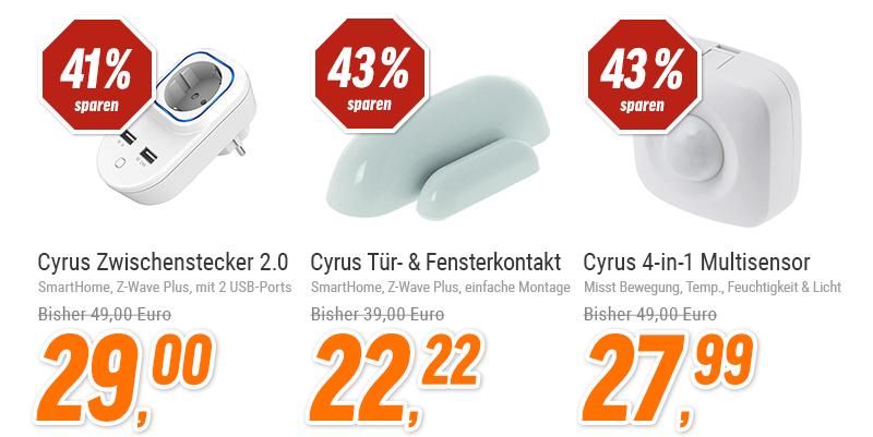 [NBB - Angebote der Woche] Cyrus Smart Home Z-Wave Stecker und weitere Geräte