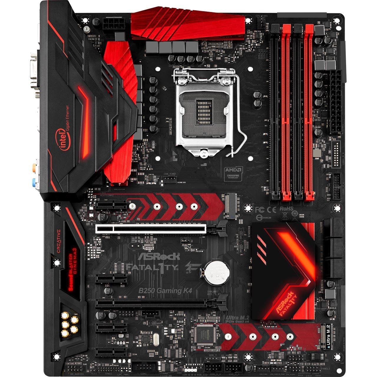 [NBB] ASRock Fatal1ty B250 Gaming K4 Mainboard, Intel Sockel 1151, 4x DDR4 DIMM, 3x M.2, USB 3.0