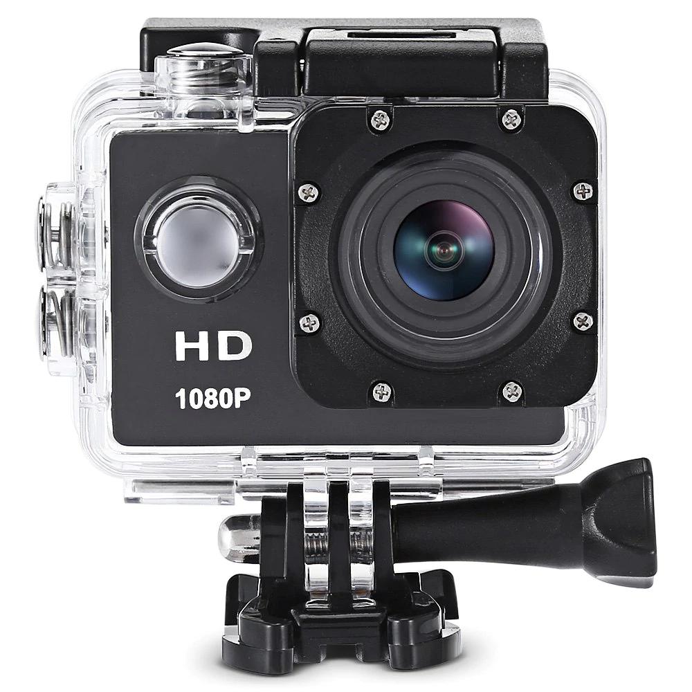 F80 1080P HD Actioncam mit wasserdichtem Gehäuse für 13,79 Euro.
