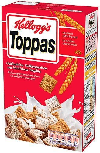 Kellogg´s Toppas 700 g Unilever Outlet Hamburg