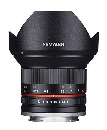 [Amazon.es] Samyang 12/2,0 Objektiv APS-C Fuji Fujifilm X manueller Fokus Fotoobjektiv, Weitwinkelobjektiv schwarz