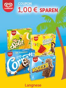 1,00€ Sofort-Rabatt Coupon für den Kauf von Langnese Eis Multipackungen im Wert von 4.00€ [Bundesweit]