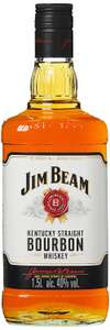 (Amazon Prime) Jim Beam Weiß Kentucky Straight Bourbon Whiskey (1 x 1.5 l)
