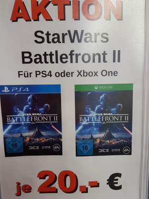 (LOKAL) Star Wars Battlefront 2 Xbox+PS4 Saturn Dortmund