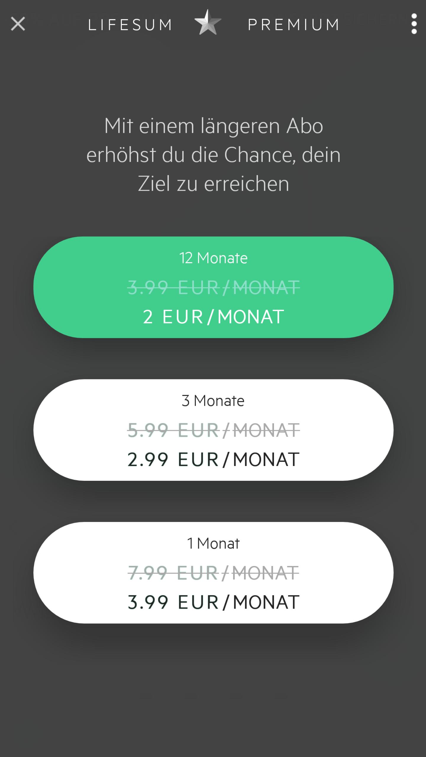 Lifesum Premium Abo (bis zu 50% Rabatt)