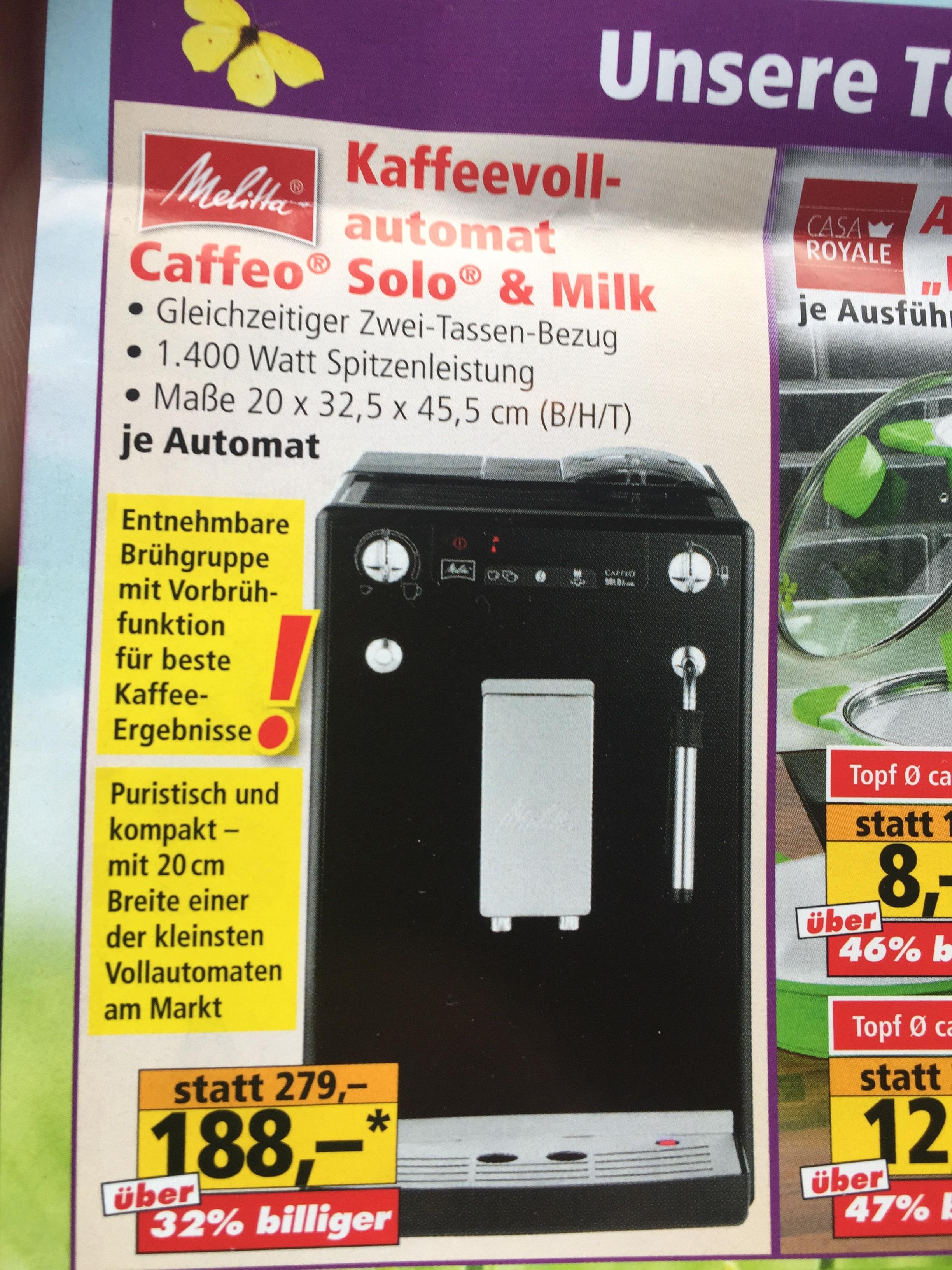 [Lokal Nürnberg, Norma Bierweg 31b]: Melitta Caffeo Solo & Milk