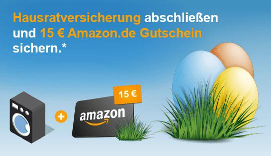 HUK24.de:  Hausratversicherung abschließen und 15 € Amazon.de Gutschein erhalten