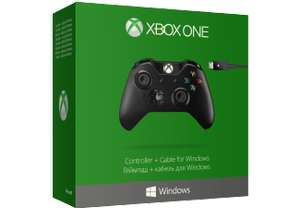 [Saturn] Microsoft Xbox One Wired Controller, Gamepad schwarz, inkl. USB-Kabel für 37,-€