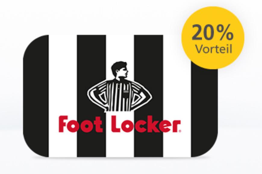 [Postbank] 20% auf Foot Locker Gutscheinkarten