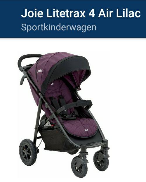 Buggy LITETRAX 4 AIR JOIE GMBHlila Kinderwagen Uvp: 229€