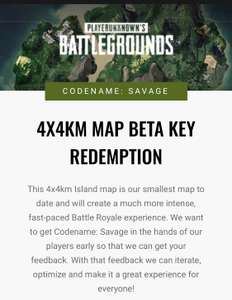 [PC] PubG 4x4 Neue Map Beta Key [FREE]