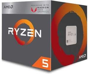 [metacomp]  AMD Ryzen 5 2400G, 4x 3.60GHz, boxed (YD2400C5FBBOX)