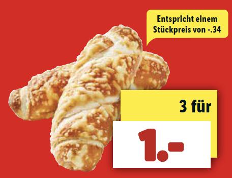 [ab 9.4 bei LIDL] 3 Käsestangen für nur 1 €