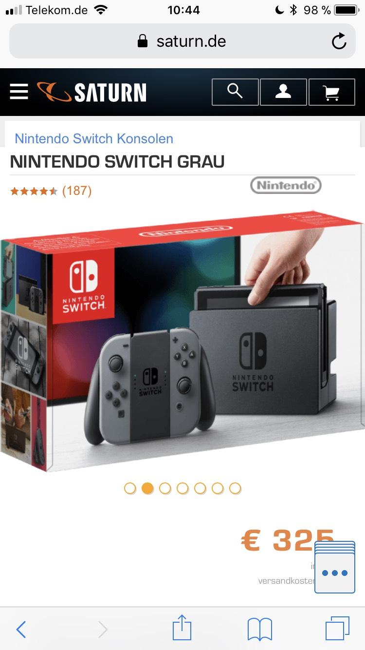 Saturn Nintendo Switch + Zelda Botw