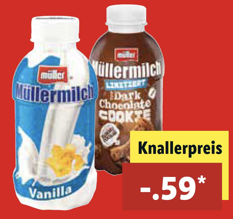 [ab 9.4 bei LIDL] Müllermilch für nur 0,59 €