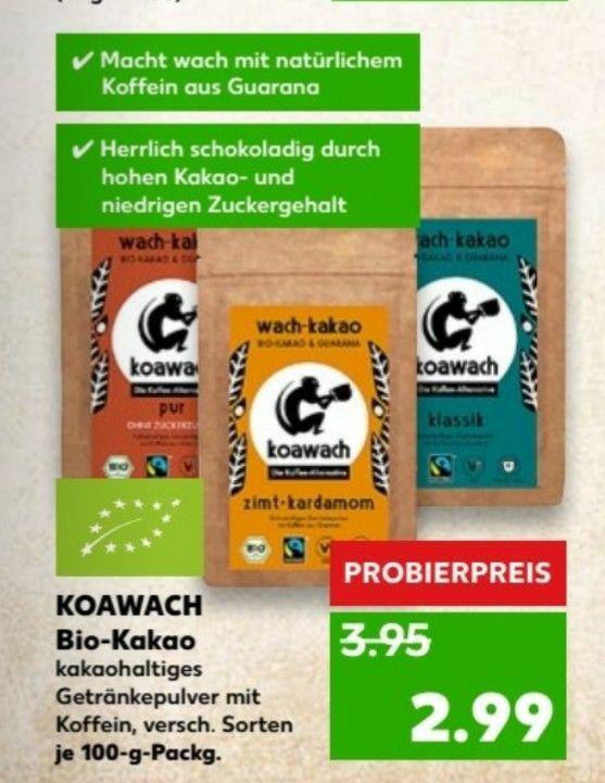 Koawach Bio-Kakao verschiedene Sorten bei Kaufland