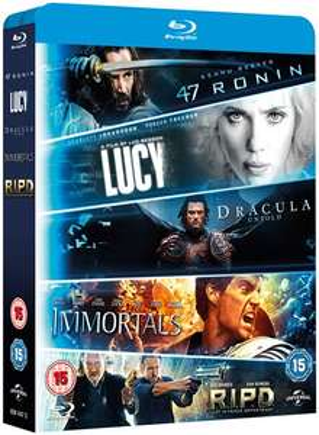 Lucy + Dracula Untold + 47 Ronin + Immortals + R.I.P.D (5x Blu-ray) für 8,20€ (Zoom)