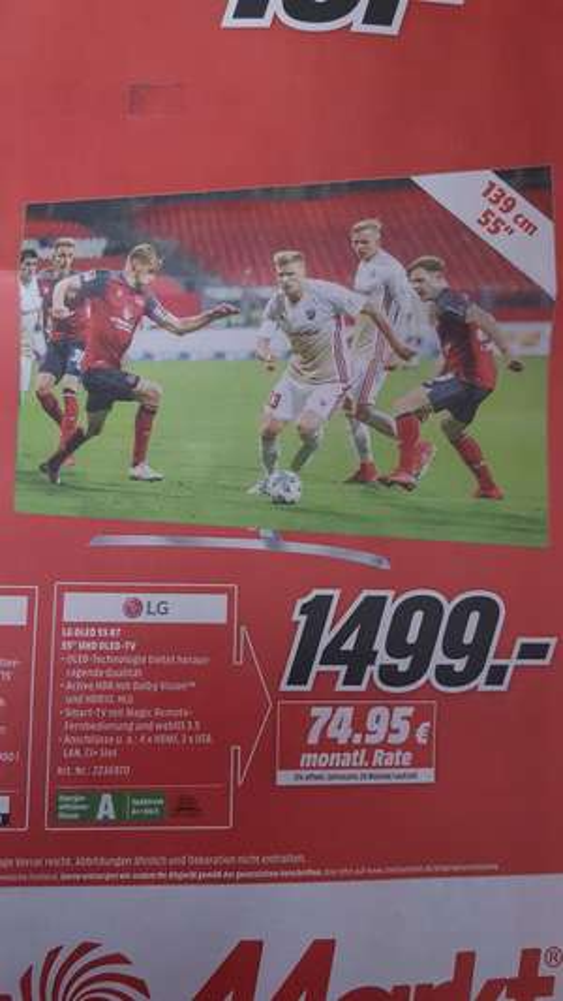 "(Lokal) LG OLED 55 B7D - 55"" UHD OLED-TV (Pirmasens)"