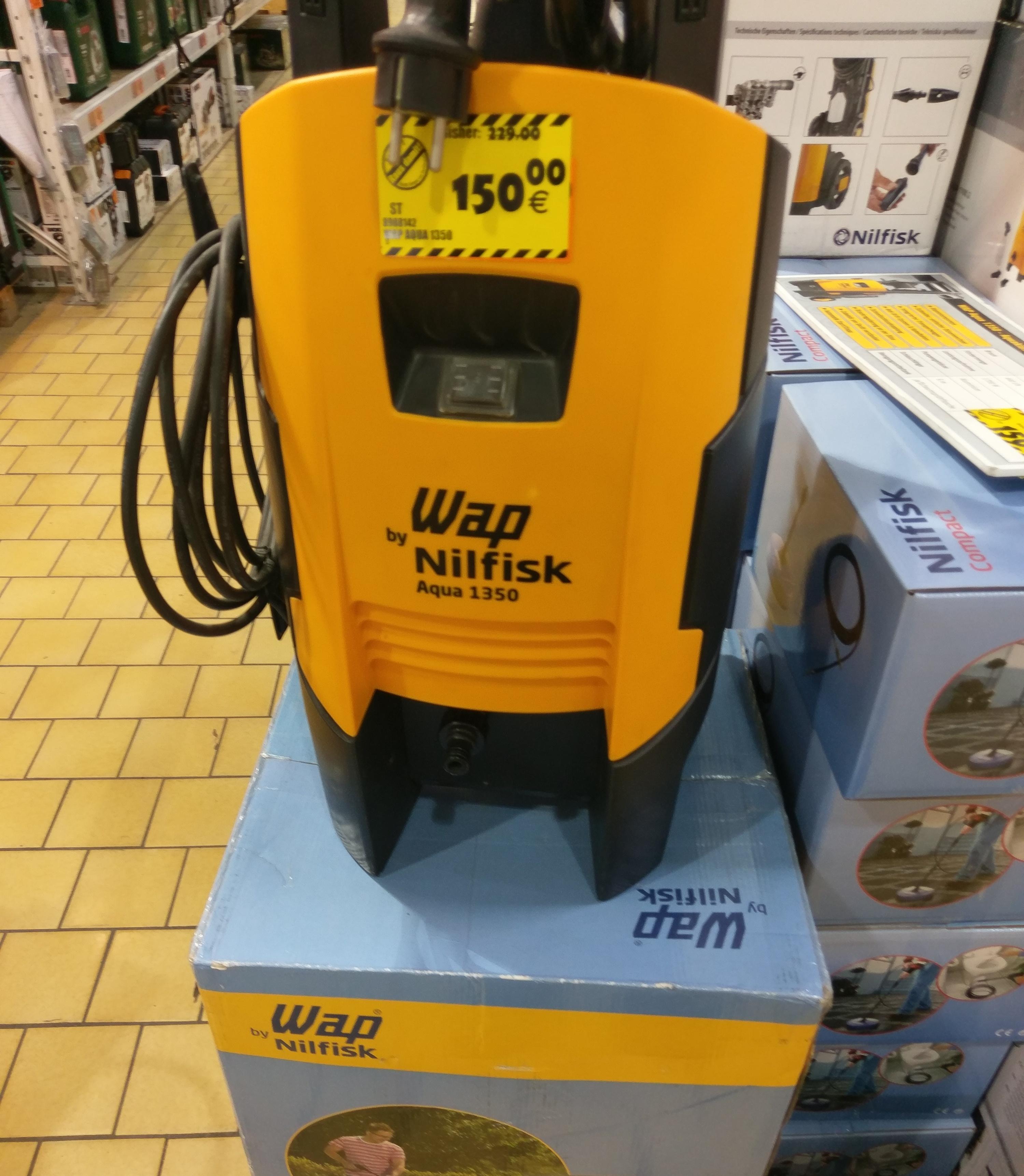[lokal Hornbach Leipzig] Nilfisk Aqua 1350 150 Euro bzw. 100 Euro