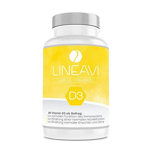 Lineavi Vitamin D3 Kapseln für 1,99€ statt 12,99€