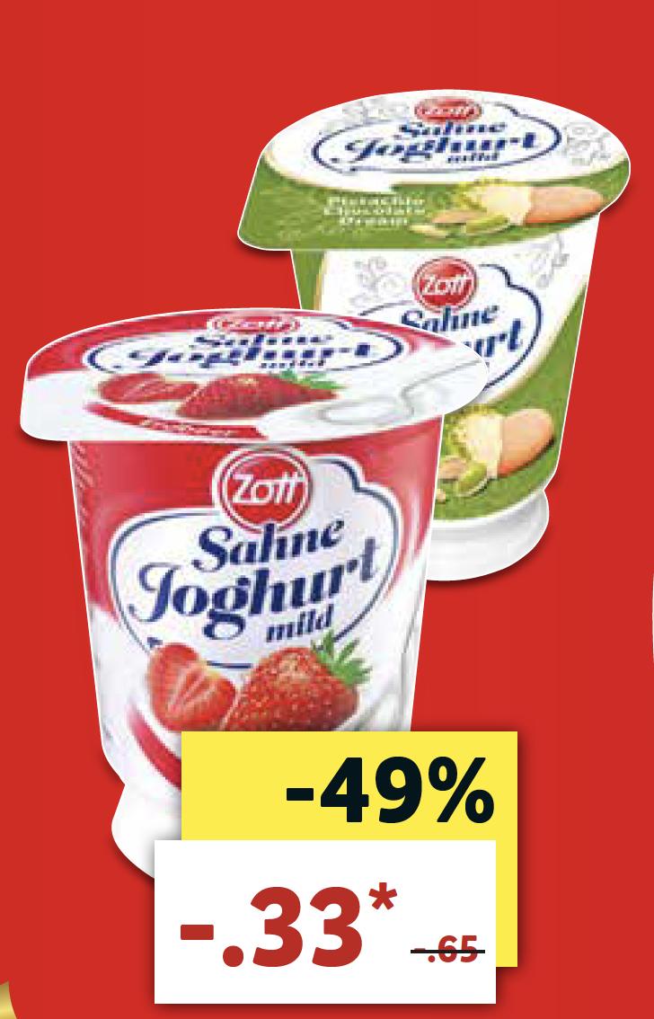 [ab 9.4. bei LIDL] Zott Sahnejoghurt für nur 0,33 €