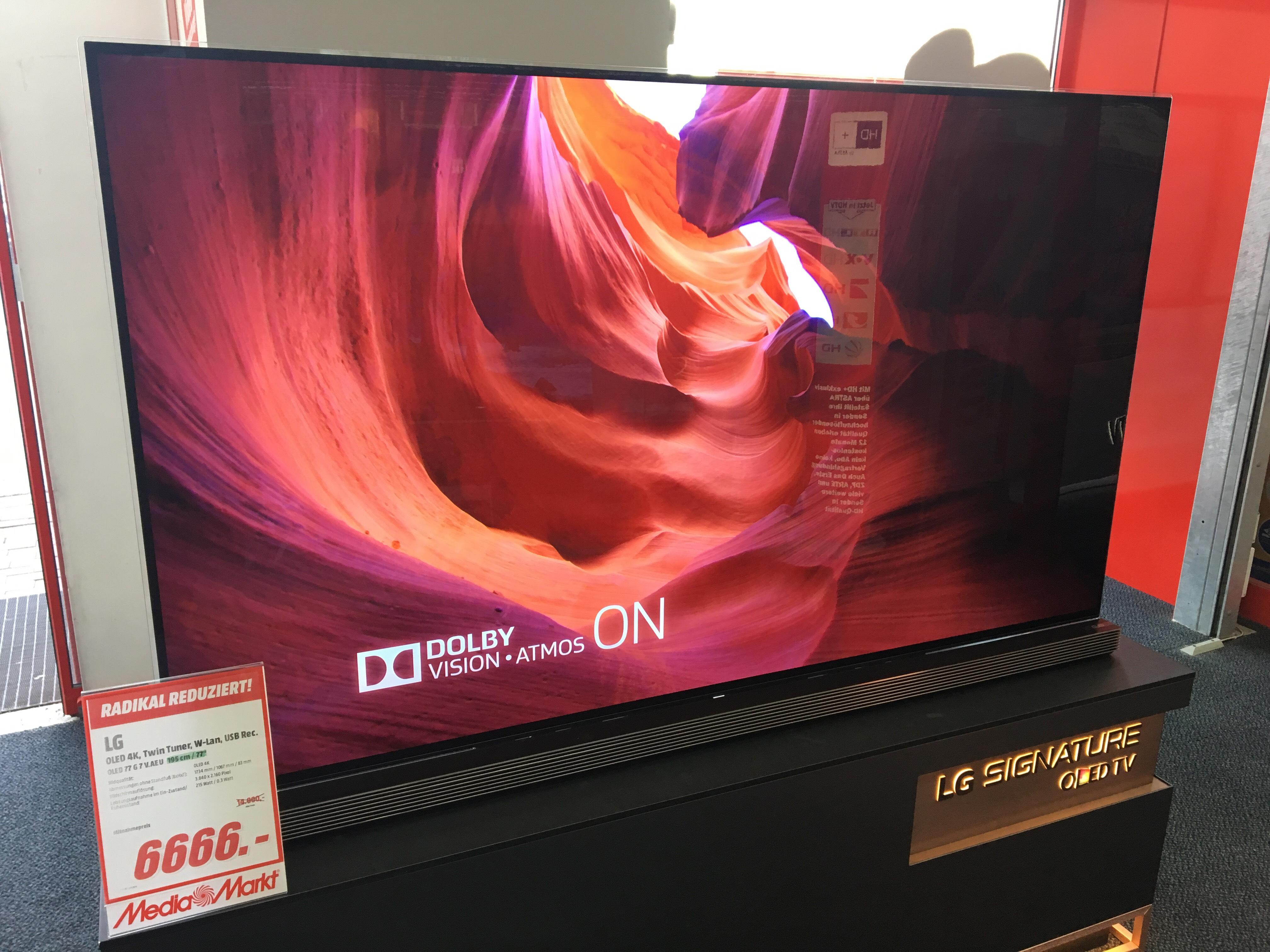 *lokal Berlin* LG Signature 77G7V 77 Zoll OLED TV [Bestpreis]