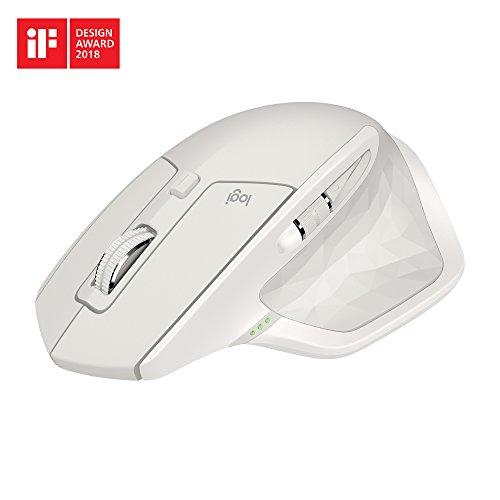Amazon Logitech MX Master 2S kabellose Maus Hellgrau/midnight teal (Bluetooth, für Mac und Windows)