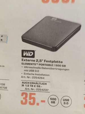 WD Elements 2,5 Festplatte Portable 500gb Saturn und Amazon